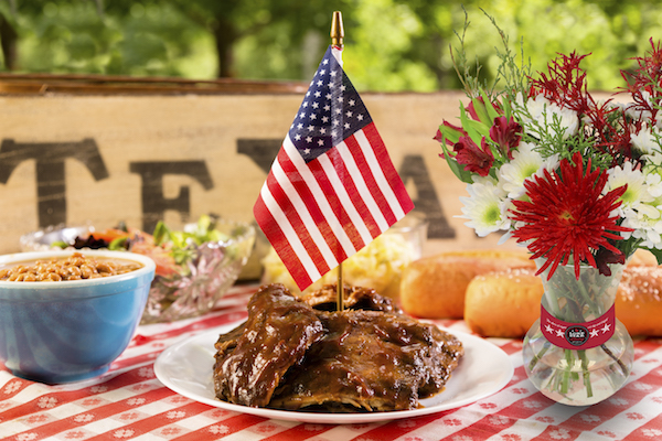 Set Up a Backyard Buffet with Texas BBQ and Fresh Flowers