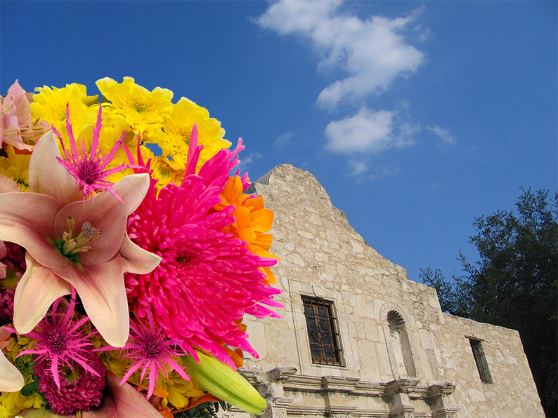 Texas Cities:  3 inspiring uses of fresh flowers to honor San Antonio's history