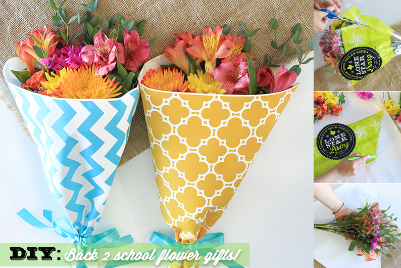 DIY Back to School gift using fresh flowers for a fresh start