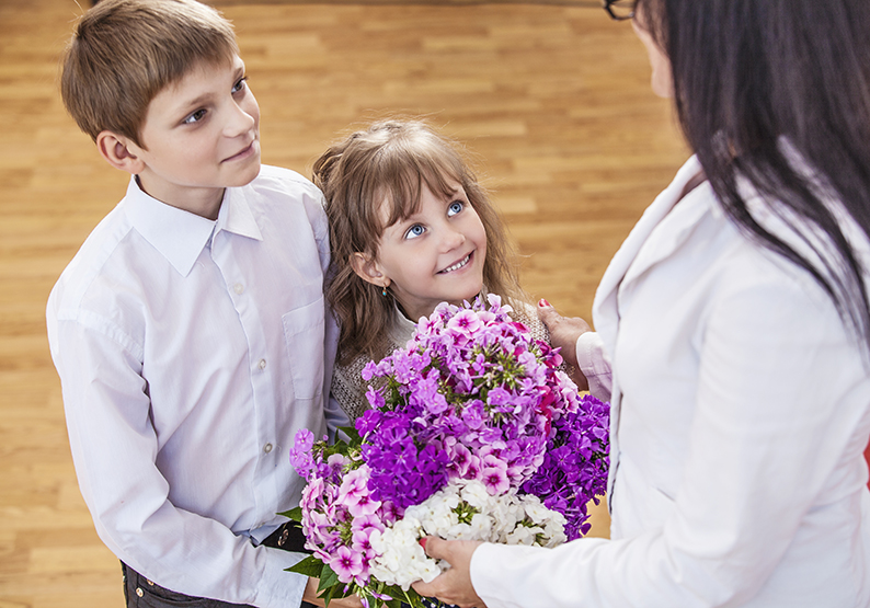 Start your own First Day of School Traditions using fresh flowers