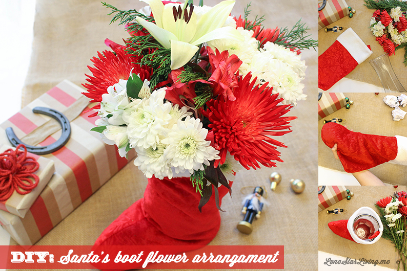 Easy Christmas stocking stuffer fresh flower arrangement to light up your home