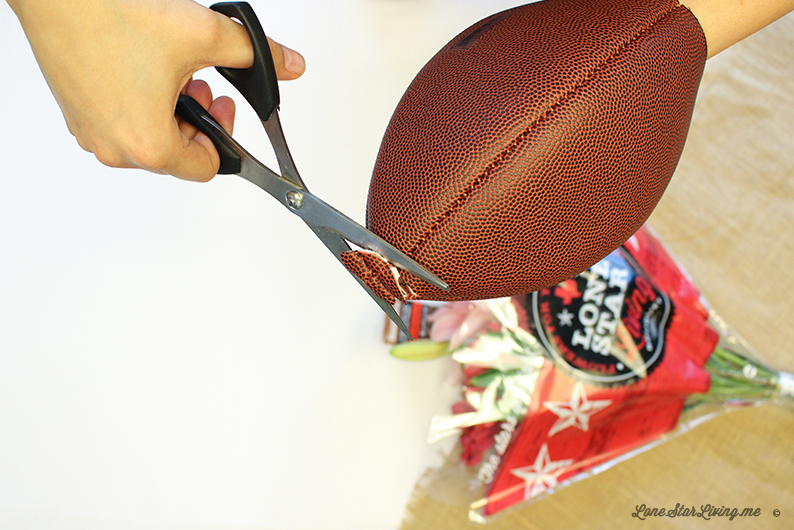 DIY Super Bowl Flower Arrangement for your party
