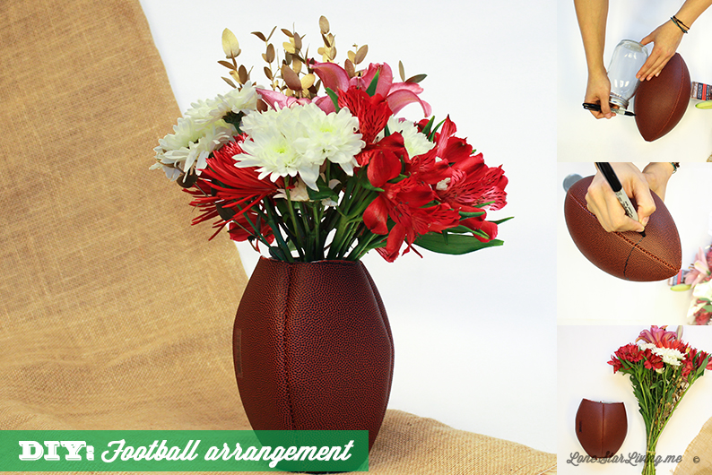 Make your own Super Bowl Party arrangement in 4 steps