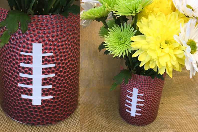 DIY: Football-Vase with FREE Printable Patterns