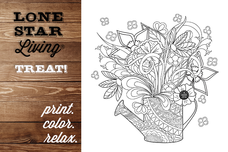 Fresh Flower Inspiration: Adult Coloring Page for you.