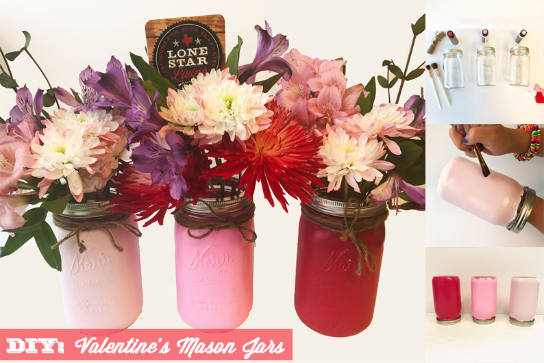 DIY: Valentine's Day Mason Jars