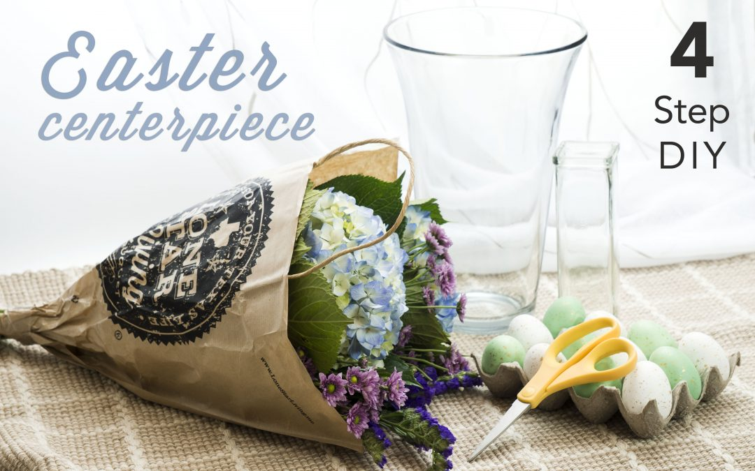 How to: Easy 4 Step DIY Hydrangea Easter Centerpiece